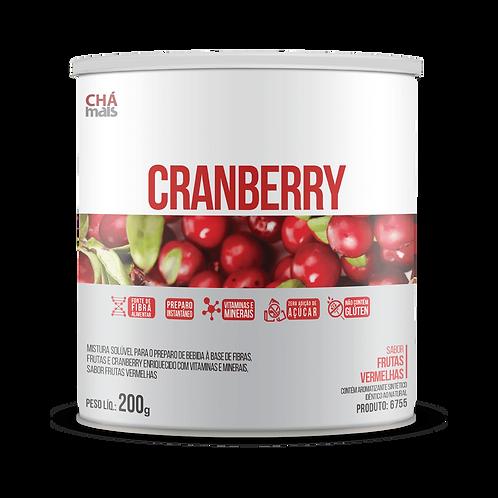 Chá solúvel lata zero açúcar- Sabor cranberry chá mais