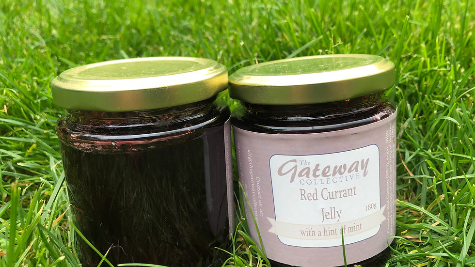 Redcurrant Jelly - with a hint of mint!