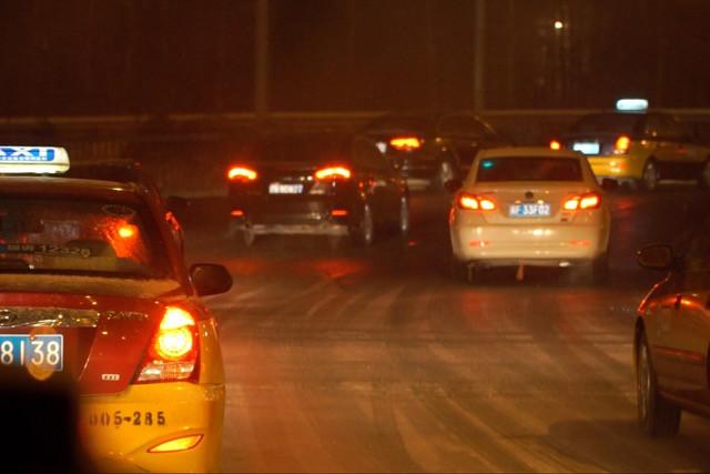 Snow on the Road in Beijing