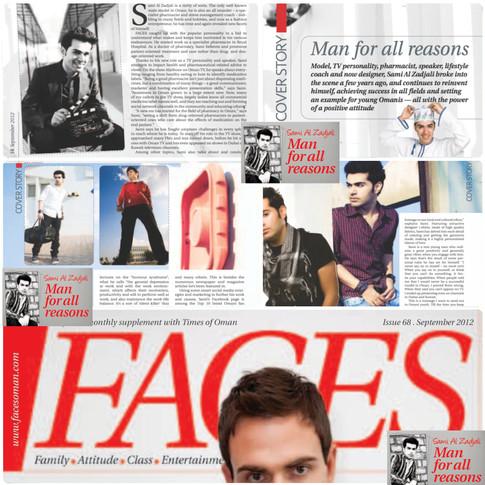 مقالة عني في مجلة Faces في سبتمبر 2012