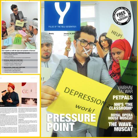 على غلاف Y-Magazine في يناير 2012