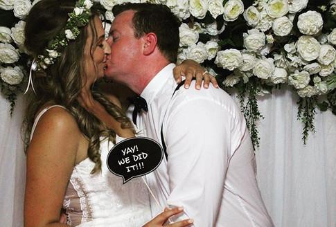 Congratulations Bride & Groom Photobooth