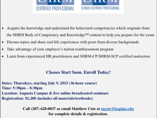 SHRM Certification with Kaplan University
