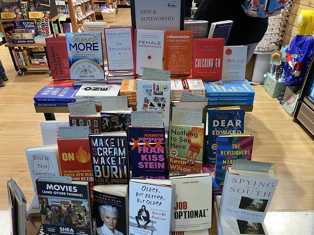 We manage authors in all retail channels including airports and train station bookstores.