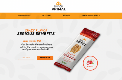 Snack Primal Flavored Walnuts