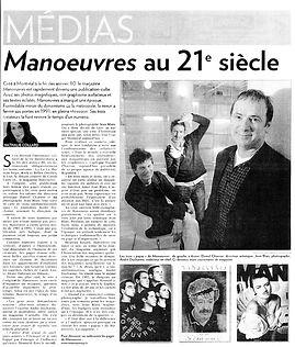 Article sur le magazine Manoeuvres paru dans le quotidien La Presse