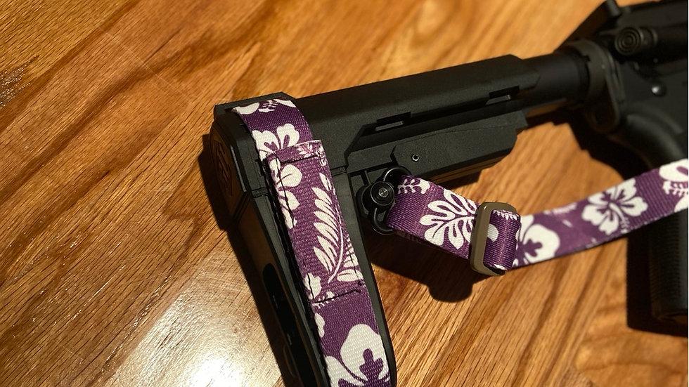 Purple Hibiscus SBA3 Strap