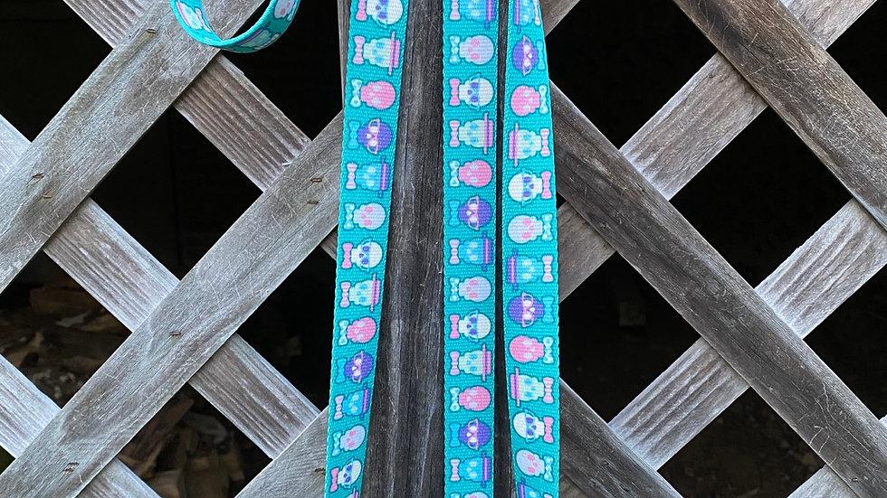 Bow Tie Skulls dual lead leash