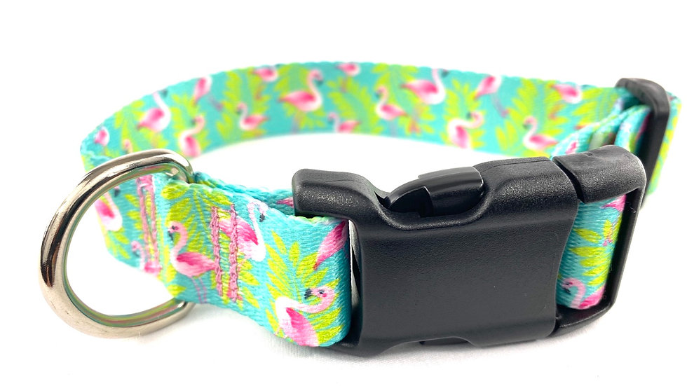 Tropical Flamingo s/m pet collar