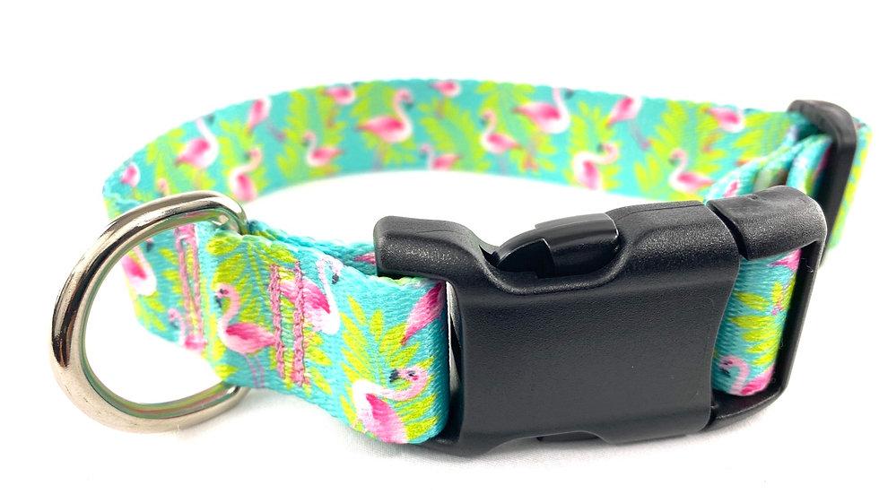 Tropical Flamingos L/XL pet collar