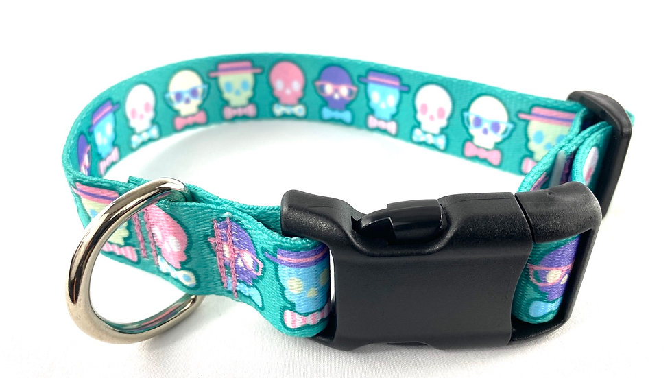Bow Tie Skulls L/XL pet collar