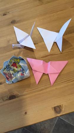 Des and Liz origami