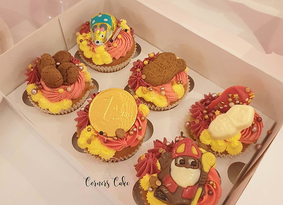Sinterklaas Cupcakes 6 stks (Alleen afhalen)