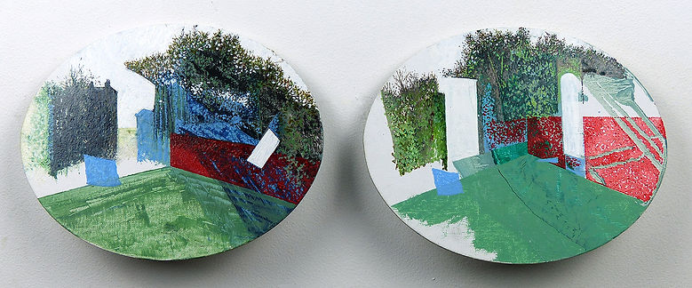 HP Series, Oval Diptych Landscape. 2018.