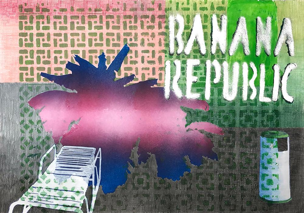 2Renata Fernandez. Monoprint A5 Banana R