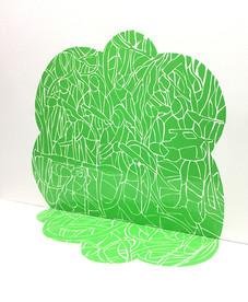 Renata Fernandez. John Moore Green Vinyl Model Installation, detail