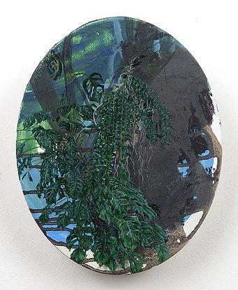 Hp Series, Oval Monstera. 2018. Oil on c