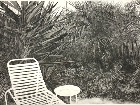 Private Commission, large format charcoal drawing