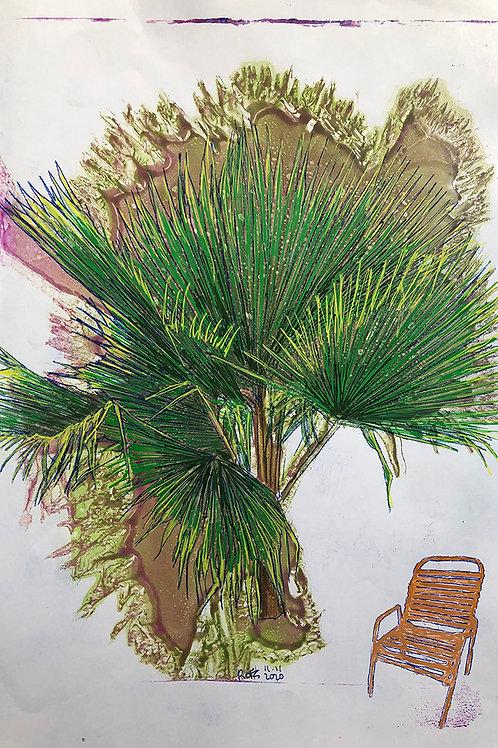 Monoprint A4 Palm-Chair 1