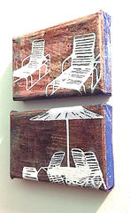 Deck Chairs Series Small Diptych 1, deta