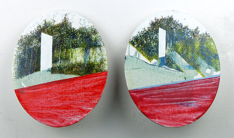 HP Series Oval Portrait Diptych. 2018. O