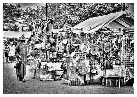 """Market Place""_Downtown Dayton by Horace Dozier Sr.__1991"