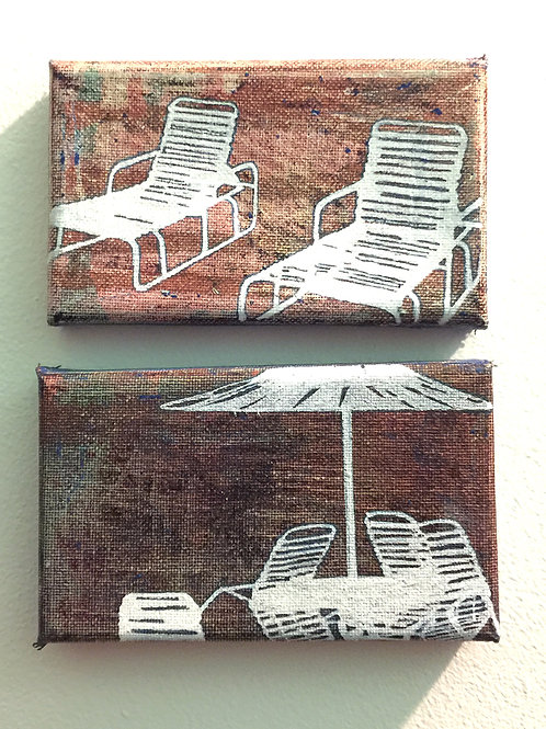 Deckchairs Series small Diptych No1