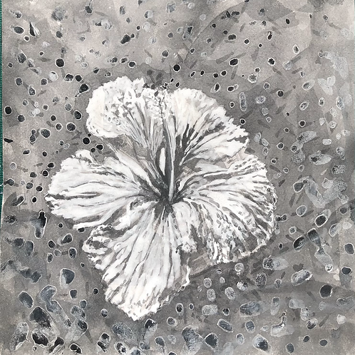 Ink Drawing Social Media Found Flower on Petrol Station. 2021