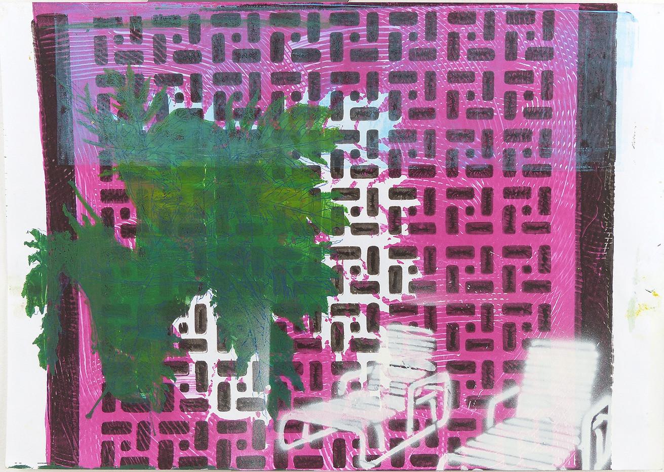 1Monotype Print Pink. 2018