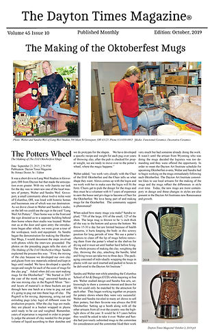 The Dayton Times Magazine Article_Potter