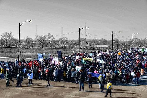 """MLK MARCH 2015, DAYTON, OH_PEACE BRIDGE""_Downtown Dayton by Horace Dozier"