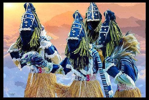 African Stilt Walker  by Horace Dozier,Sr. PN:7631