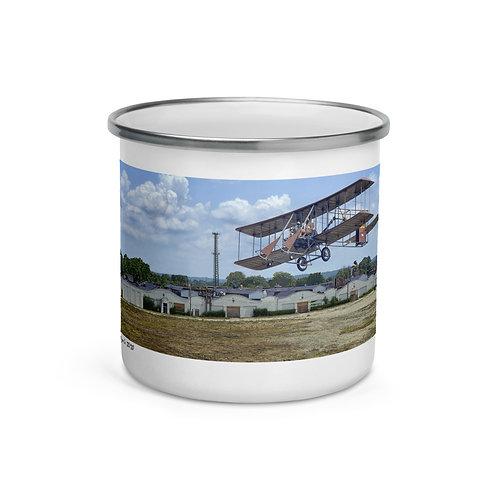"Wright Bros ""First To Fly"" Original Artwork Enamel Mug By Horace Dozier Sr."