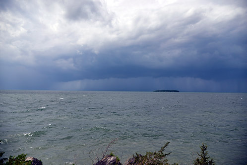 """""""Storm over The Great Lakes""""  by Horace Dozier, Sr."""
