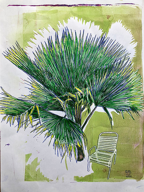 Monoprint A4 Palm-Chair 2