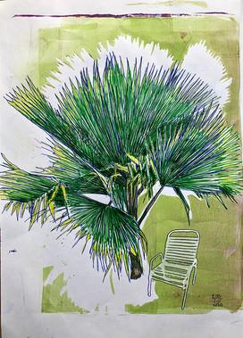 Monoprint A4 Palm- Chair 2. 2020