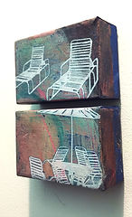 Deck Chairs Series Small Diptych 2, deta