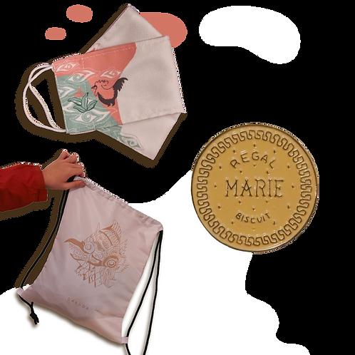Bundle 3 : String Bag + Mask + 1 Pin