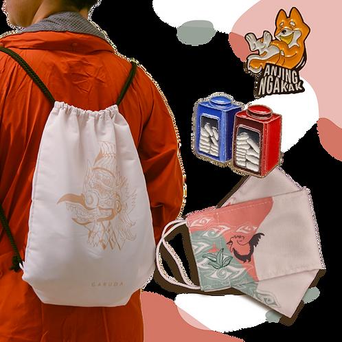 Bundle 4 : String Bag + Mask + 2 Pin