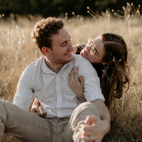 Jessica + Nathan || Golden Field Couple's Session
