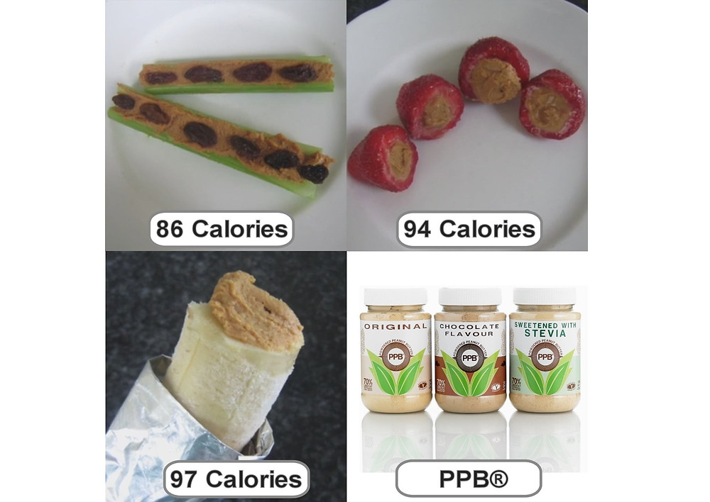 PPB Snack Ideas with Fruit & Veggies