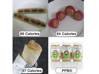 PPB Snack Ideas with Fruit & Veggies