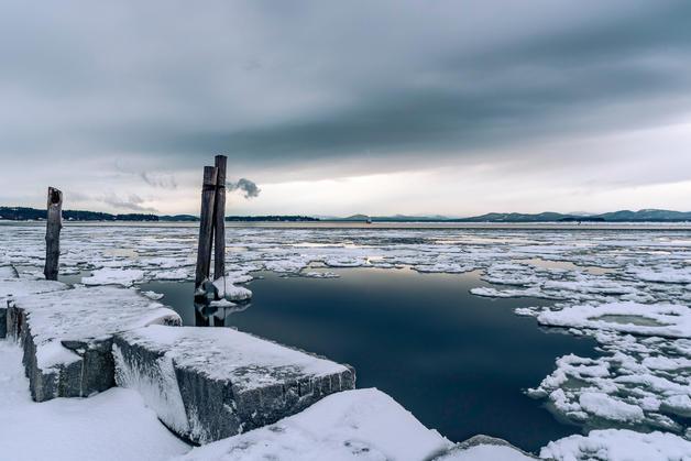 Steel Grey Afternoon, Perkins Pier in Burlington Vermont