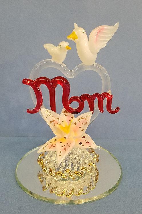Mom heart on mirror