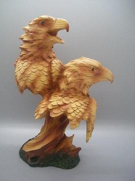 faux wood eagle