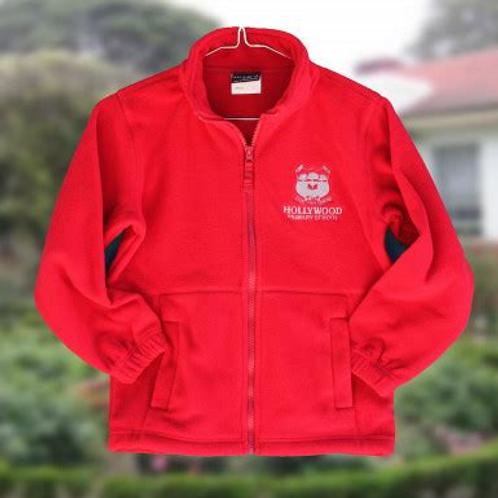 Red Fleece Zip Jacket