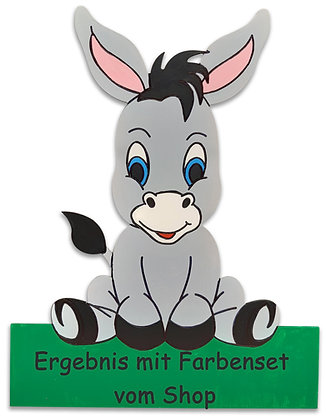 Geburtstafel Esel