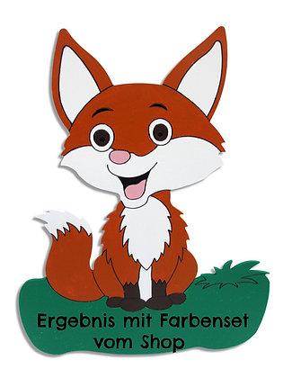 Geburtstafel Fuchs bemalt