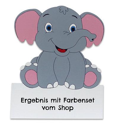 Geburtstafel Elefant bemalt