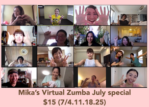 Mika's Virtual Zumba on July!